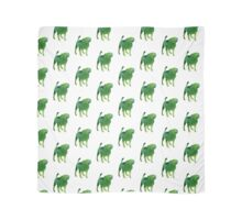 Green dog watercolor poster Scarf