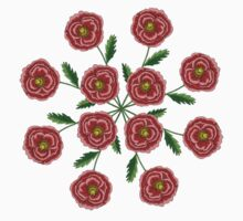 Red Flower Mandala Kids Clothes