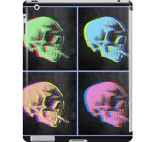 Van Gogh Skull with burning cigarette remixed set of 4 iPad Case/Skin