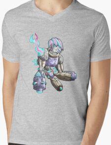 robot production... Mens V-Neck T-Shirt
