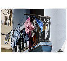 Washday blues, Old Havana, Cuba Poster