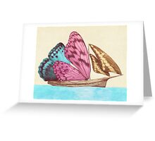 The Butterfly Ship  Greeting Card