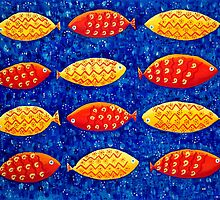 Red and Yellow Fish by Julie Nicholls