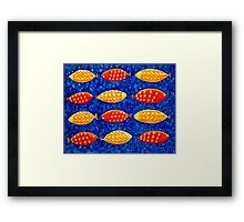 Red and Yellow Fish Framed Print