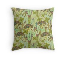 Green vegetables pattern. Throw Pillow