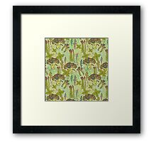 Green vegetables pattern. Framed Print