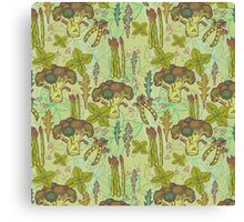 Green vegetables pattern. Canvas Print