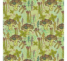 Green vegetables pattern. Photographic Print