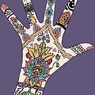 Dr's Colourful Mehndi hand by redqueenself