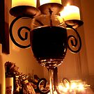 Candles and wine by sarsie