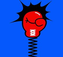 Comic Book Boxing Glove on Spring Pow by CreativeTwins
