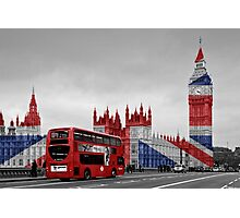 Big Ben and Union Jack Photographic Print