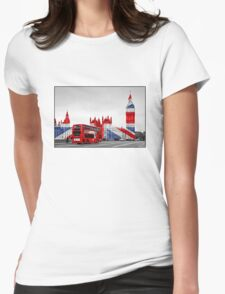 Big Ben and Union Jack Womens Fitted T-Shirt