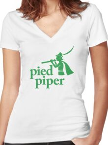 Pied Piper (Version 1) Women's Fitted V-Neck T-Shirt