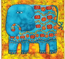 Patterned Elephant by Julie Nicholls