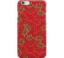 Red rowan pattern. iPhone Case/Skin