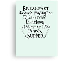 Second Breakfast Lord of the Rings Canvas Print