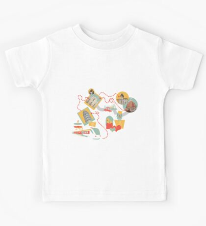 Travel with LOVE (italy) Kids Tee