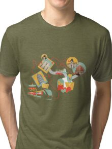 Travel with LOVE (italy) Tri-blend T-Shirt