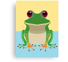 FROG IN WATER Canvas Print