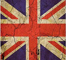 'Cracked Britannia' Union Jack Flag by Steve Crompton
