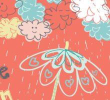 Dance when it rains Sticker