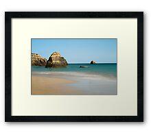 Praia da Rocha, Algarve, Portugal Framed Print