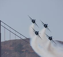 Inbound Blue Angels by fototaker