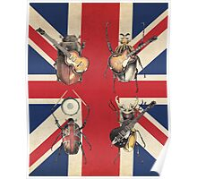 Meet the Beetles (Union Jack Option) Poster