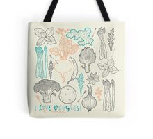 I love vegetables! Tote Bag