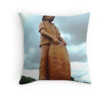 Spudpicker - main street in Koroit -carved from Cypress  Tree Throw Pillow