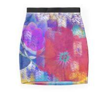 Clash color Mini Skirt