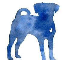 Blue dog kids wall decor by Joanna Szmerdt