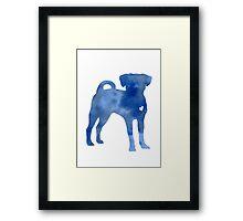 Blue dog kids wall decor Framed Print