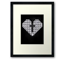 studded heart and cross Framed Print