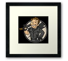 Warrior of the Road (sticker) Framed Print