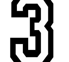 TEAM SPORTS, NUMBER 3, THREE, 3, THIRD, Competition by TOM HILL - Designer