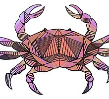 Geometric Cancer Crab in Colour by Casandra Merson
