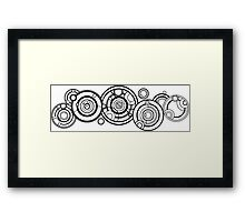Doctor Who - The Doctor's name in Gallifreyan #1 Framed Print