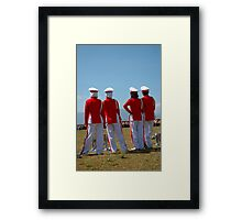 marching band members Framed Print