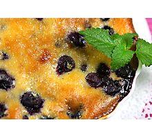 Blueberry-Almond-Cream-Tarte Photographic Print