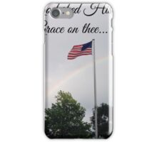 American Flag - God Shed His Grace on Thee iPhone Case/Skin