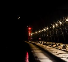 South Haven Lighthouse at Night by Robert Kelch, M.D.