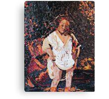 Woman Bathing - (Interpretation) Canvas Print