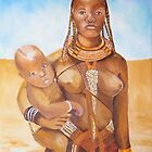 African Lady with Child by allwyn