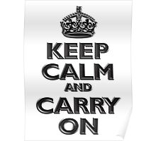 Keep Calm & Carry On, Be British! (Chisel), UK, WW2, WWII, Propaganda Poster
