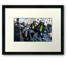law and order (2) - the masterplan Framed Print