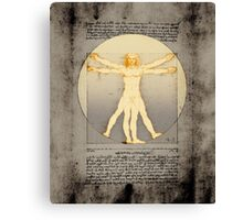 Vitruvian man 14 (enlightenment) Canvas Print