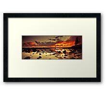 Burleigh Heads Rock Pool Framed Print