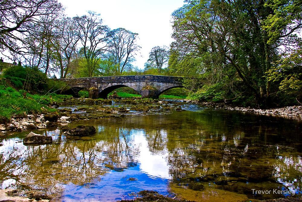 Stone Bridge - River Skirfare. by Trevor Kersley